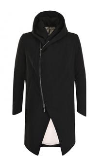 Пальто из смеси шерсти и льна на молнии с капюшоном Masnada