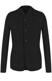 Однобортный пиджак из смеси шерсти и льна с хлопком Masnada