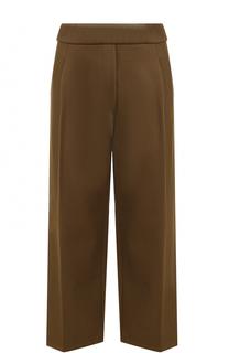 Укороченные брюки прямого кроя со стрелками Erika Cavallini