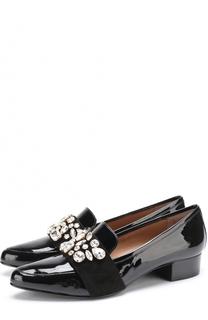 Лаковые туфли с кристаллами Escada