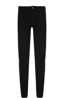 Хлопковые брюки прямого кроя с манжетами на резинке C.P. Company