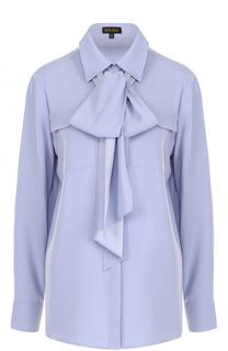 Блуза с накладными карманами и воротником аскот Escada