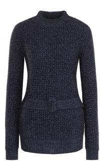 Удлиненный шерстяной пуловер с поясом See by Chloé