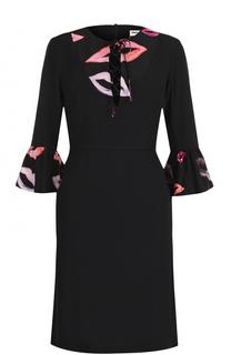Приталенное платье-миди с укороченными рукавами Paul&Joe Paul&Joe