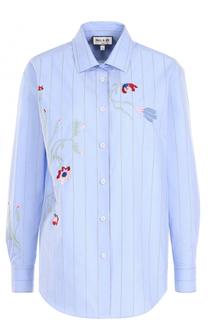Хлопковая блуза прямого кроя с вышивкой Paul&Joe Paul&Joe