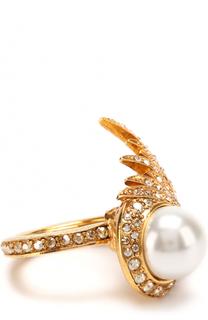 Кольцо с отделкой из кристаллов Swarovski Oscar de la Renta
