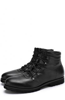 Высокие кожаные ботинки на шнуровке A. Testoni