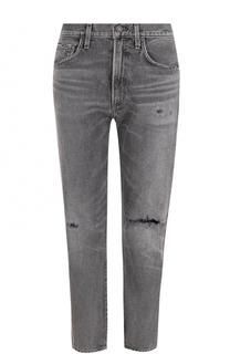 Укороченные джинсы прямого кроя с потертостями Citizens Of Humanity