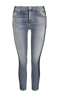 Укороченные джинсы-скинни с лампасами Citizens Of Humanity