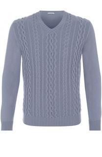 Кашемировый пуловер фактурной вязки malo