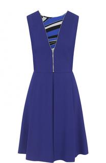 Приталенное платье-миди без рукавов Emilio Pucci