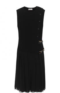 Приталенное платье-миди с юбкой в складку Lanvin