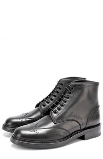 Кожаные ботинки William с прострочкой Saint Laurent