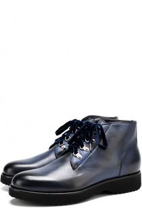 Кожаные ботинки на шнуровке Doucals