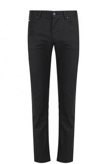 Однотонные джинсы прямого кроя BOSS