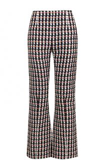 Расклешенные хлопковые брюки с принтом Marni