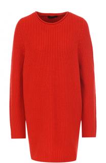 Удлиненный кашемировый пуловер фактурной вязки The Row