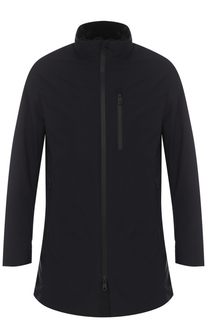 Удлиненная куртка на молнии с воротником-стойкой Armani Collezioni