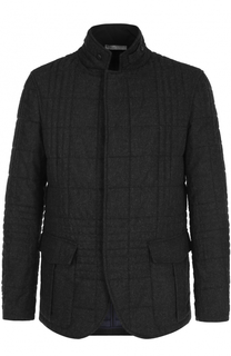 Стеганая куртка из смеси шерсти и вискозы Armani Collezioni