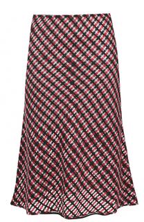 Шерстяная юбка-миди в клетку Versace