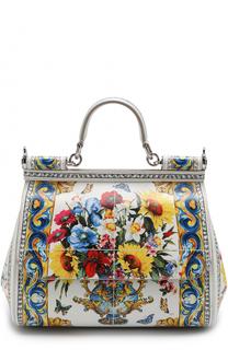 Сумка Sicily medium с принтом Dolce & Gabbana
