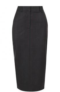 Шерстяная юбка-карандаш с разрезом CALVIN KLEIN 205W39NYC