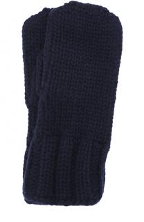 Варежки фактурной вязки Tegin