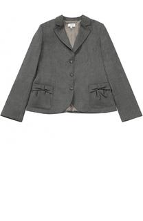 Однобортный пиджак с декором на карманах Aletta