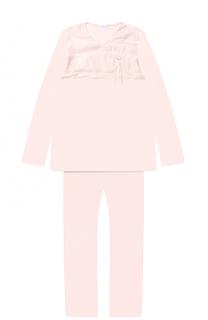 Трикотажная пижама с кружевной отделкой La Perla