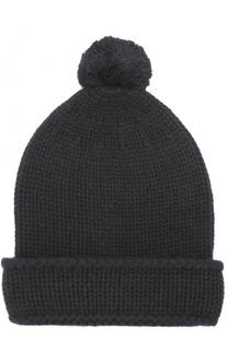Кашемировая шапка с помпоном Tegin