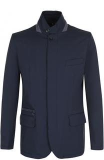Утепленная куртка на молнии с замшевой отделкой Loro Piana