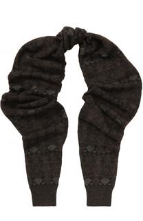 Вязаный шарф из смеси шерсти и вискозы с шелком Giorgio Armani