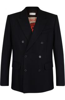 Шерстяной двубортный пиджак Dries Van Noten