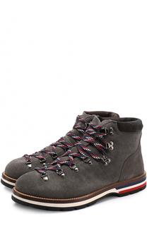 Замшевые ботинки на шнуровке Moncler