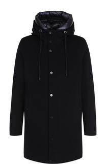 Пальто из смеси шерсти и кашемира на молнии с пуховой подстежкой Moncler