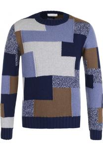 Кашемировый свитер фактурной вязки Cruciani