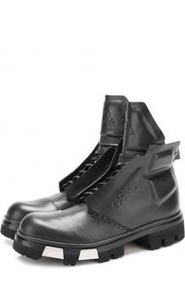 Высокие кожаные ботинки на массивной подошве Artselab