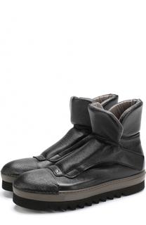 Высокие кожаные ботинки на толстой подошве Rocco P.