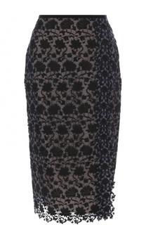Кружевная юбка-карандаш Erdem