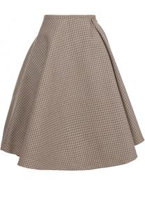 Пышная юбка-миди со складкой No. 21