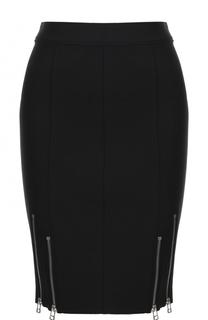 Облегающая юбка с декоративными молниями T by Alexander Wang