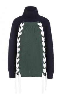 Хлопковый свитер с контрастной шнуровкой Paul&Joe Paul&Joe