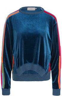 Бархатный пуловер с круглым вырезом PREEN by Thornton Bregazzi