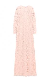 Приталенное кружевное платье-макси Ralph Lauren