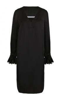 Платье свободного кроя с V-образным вырезом Raquel Allegra