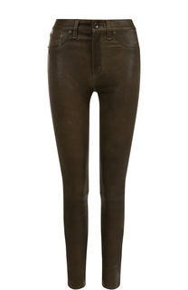 Кожаные брюки-скинни Rag&Bone Rag&Bone