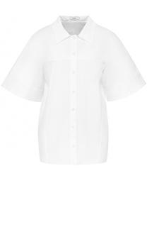 Хлопковая блуза с коротким рукавом Erdem