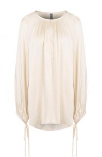 Блуза свободного кроя с круглым вырезом Raquel Allegra