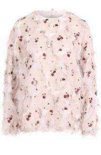 Блуза с принтом и бахромой See by Chloé