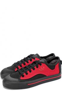 Текстильные кеды Black Red Spirit V Adidas by Raf Simons